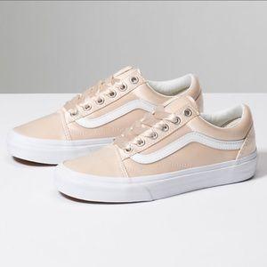 Vans Shoes - NWT Vans Old Skool Satin Luxe Blush W 10, M 8.5